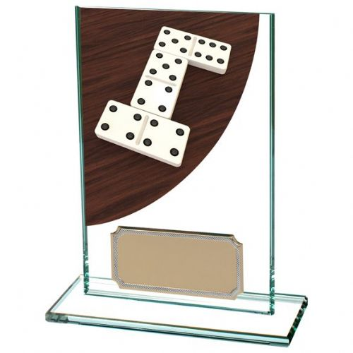 Colour Curve Dominoes Jade Glass Award 125mm